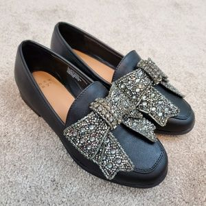 'a new day' Beade Bow Loafers, size 5, never worn!